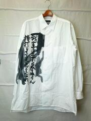 My child is Print Big shirt/長袖シャツ/3/コットン/WHT/hn-b52-024