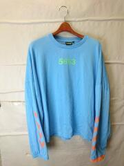×WILLY CHAVARRIA/長袖Tシャツ/L/コットン/BLU/プリント/207-469/CA08533