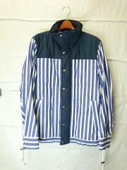 19AW/Dr. Woo Striped Shirting Shirt/ジャケット/2/BLU/19-01949M