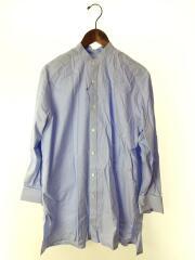 コットンダブルカフスバンドカラーロングシャツ/長袖シャツ/--/BLU/1611-267-2061