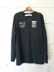 MONALISA LONG SLEEVE/長袖Tシャツ/L/コットン/BLK/omab001s19185005
