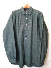 ROUND COLLAR EDW SHIRT-TARTAN PLAID/長袖シャツ/XL/GRN/IN163
