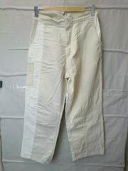 20SS/PATCHWORK CHINO WIDE LEG CINCH BACK/20-030-470-1540-1-0