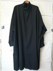 Long Blouse Wrinkled Gabardine/長袖シャツ/1/ウール/BLK/HH-B22-100
