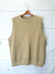 17SS/Lowgage Moss Stitch Vest/ニットベスト(薄手)/2/BEG/1701-012