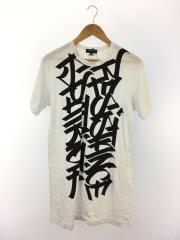 19SS/プリントロングシャツ/Tシャツ/S/コットン/WHT/プリント/PC-T036/AD2018