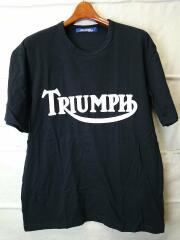 AD2002/TRIUNPH/Tシャツ/L/コットン/BLK/無地/WI-T055