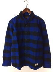 Buffalo Check Shirt/0144402/長袖シャツ/L/コットン/BLU/チェック