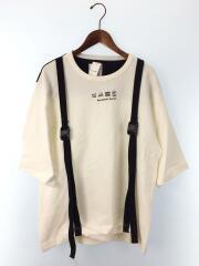 19535031/切替ビックTシャツ/2/コットン/WHT/RIPPLE BELT S/S BIG-T