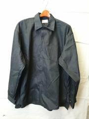 21SS/サテンカラー オーバーシャツ/ジャーナルスタンダード/1/コットン/BLK/107-214066