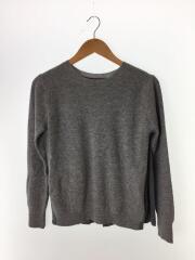セーター(薄手)/38/ウール/GRY/無地