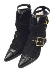 ブーツ/37/BLK/スウェード