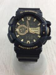 クォーツ腕時計・G-SHOCK/デジアナ/ラバー/BLK/BLK