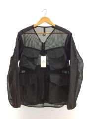 20SS/Mesh Jacket/ナイロンジャケット/M/ナイロン/BLK/JK-20SU10903BK