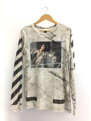 プリントT/CARAVAGGIO/長袖Tシャツ/M/コットン/GRY