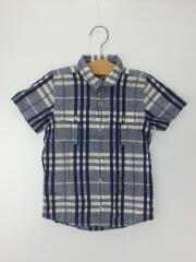 半袖シャツ/--/6Y/コットン/BLU/チェック