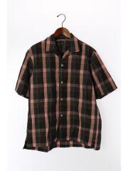 2019ss/Open Collar S/S Shirt/半袖/36/コットン/PNK/チェック/KS9SSH0//オープンカラーシャツ