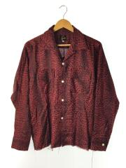 Cut-Off Bottom Classic Shirt - Linen Cloth/S/リネン/RED/GL194