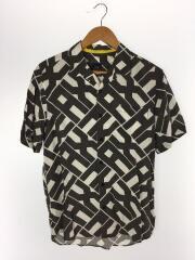 オープンカラーSSシャツ/M/レーヨン/BLK/総柄/3GZC44/ZNL6Z