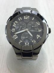 クォーツ腕時計/アナログ/ステンレス/BLK/BLK/W11010G2/キズ有