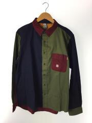 ボタンダウン クレイジーシャツ/タグ付/L/コットン/マルチカラー/CH02-1129-M001-05