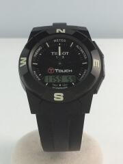 Tタッチ/腕時計/デジアナ/ラバー/BLK/BLK/箱有/T001520A