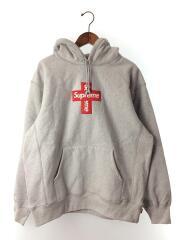 20FW/Supreme Cross Box Logo/クロスロゴ/パーカー/L/コットン/GRY/半タグ/プルオーバー