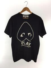 HEART INVERTED BIG GRAPHIC TEE/XL/コットン/BLK/AZ-T11