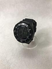 ソーラー腕時計/デジタル/ラバー/BLK/BLK/SBEP037-UM03