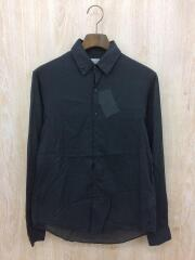 レギュラーカラーシャツ/長袖シャツ/XS/コットン/BLK