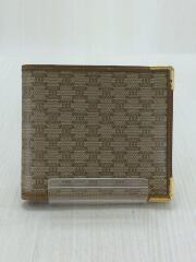 2つ折り財布/PVC/BRW/総柄/マカダム柄