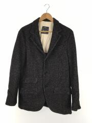 san francisco clothingmaker/テーラードジャケット/ポリエステル/ウール/BLK