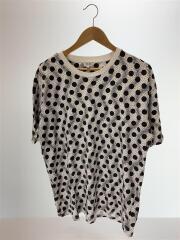 19SS/ドットTee/Tシャツ/XL/コットン/WHT/ドット