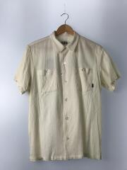 刺繍半袖シャツ/L/コットン/IVO