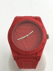 クォーツ腕時計/アナログ/ラバー/RED/W0979L3