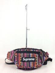 20SS/Woven Stripe Waist Bag/ウエストバッグ/--/マルチカラー