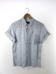 [未使用]半袖シャツ/40/コットン/BLU