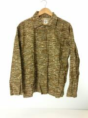 Hunting Shirt/長袖シャツ/S/コットン/KHK/FK845