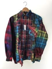 Flannel Shirt -7 Cuts Shirt / Tie Dye/ネルシャツ/M/コットン/HM304