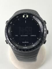 CORE/クォーツ腕時計/デジタル/ラバー/BLK