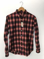 ネルシャツ/34/コットン/RED