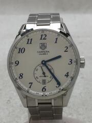 自動巻腕時計・カレラヘリテージ/アナログ/WHT/Carrera Heritage calibre6 バックスケルトン