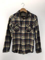 ウールシャツ/長袖シャツ/38/ウール/BRW/チェック