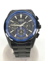 クロノグラフ/7T12-0AT0/クォーツ腕時計/アナログ/--/BLK