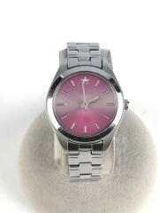 クォーツ腕時計/アナログ/ステンレス/PNK/V117-0AH0