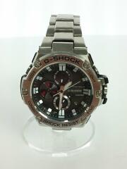 腕時計/アナログ/ステンレス/BLK/SLV/GST-B100
