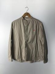 長袖シャツ/38/コットン/WHT/ストライプオックスフォードバンドカラーシャツ/20AW/JD-3606