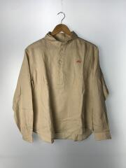 長袖シャツ/36/リネン/BEG/丸襟プルオーバーシャツ/JD-3564 KLS/20S-WS-001