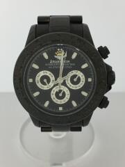 自動巻き腕時計/アナログ/ステンレス/BLK/BLK/J.H018C