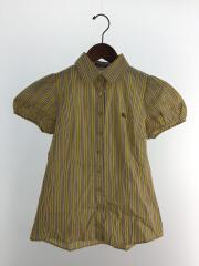 半袖シャツ/38/コットン/YLW/ストライプ